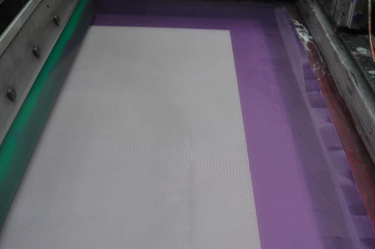 moire print pattern error silkscreen silk screen screen print screenprint Serigraphy serigraph printmaking mistake lathos #moiré pattern errors
