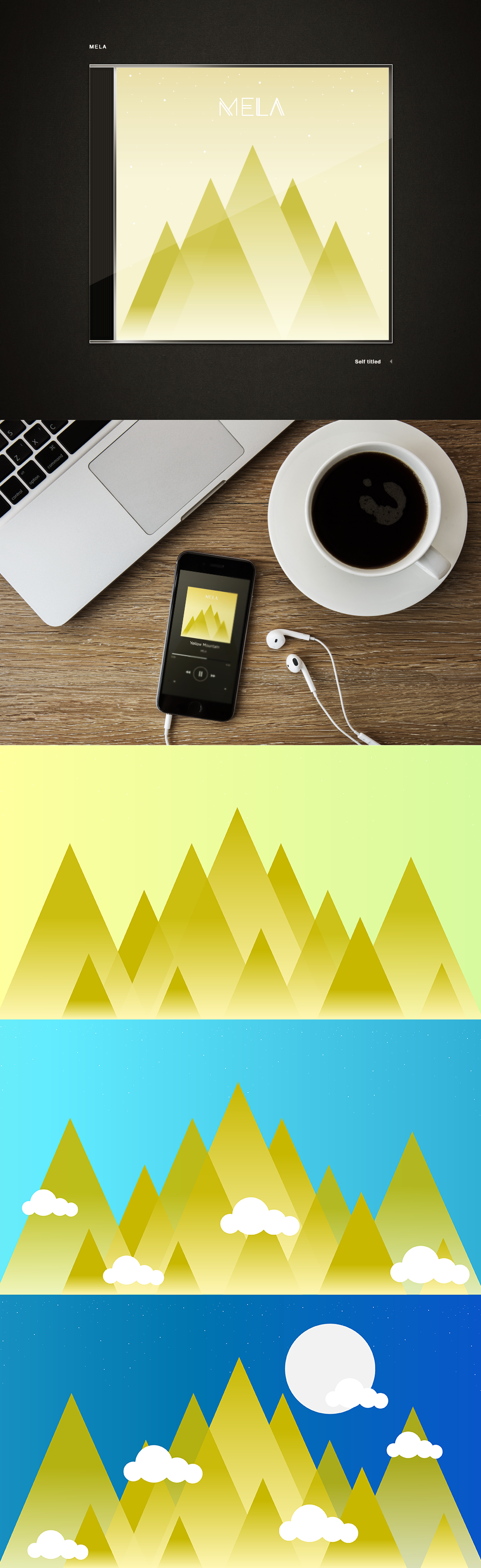 Illustrative design flat flat 2.0 vector artwork Album