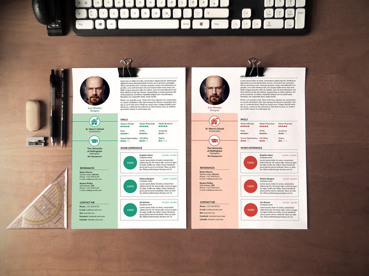 Resume CV freebie free template Layout cover letter
