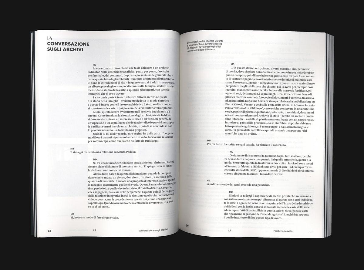 editorial type design identity matera Archive graphic design