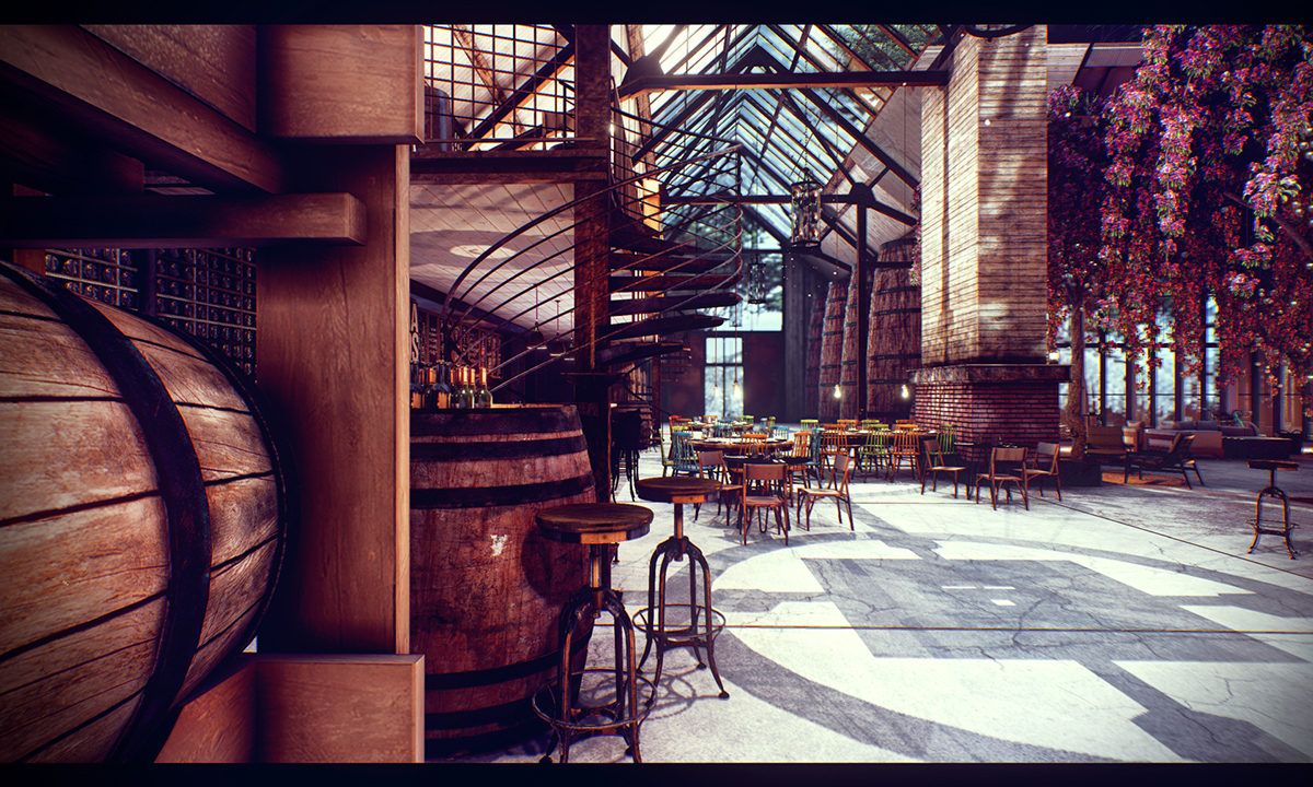 The vineyard 3d visualization challenge solo winner on for Unreal engine 4 architecture