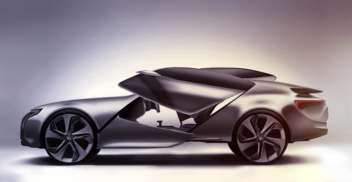 transportation,design,Transportation Design,car,car design,citroen,DS,Episode,sketch,rendering,photoshop,clay,model,Clay Model