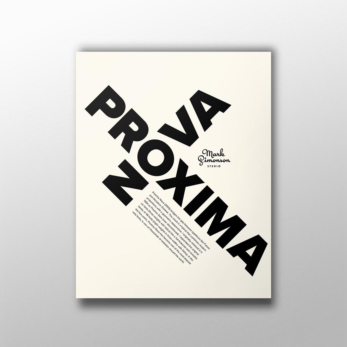 Proxima Nova Typography Poster On Student Show