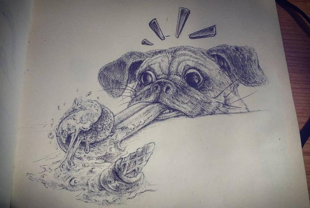 funny animals inktober