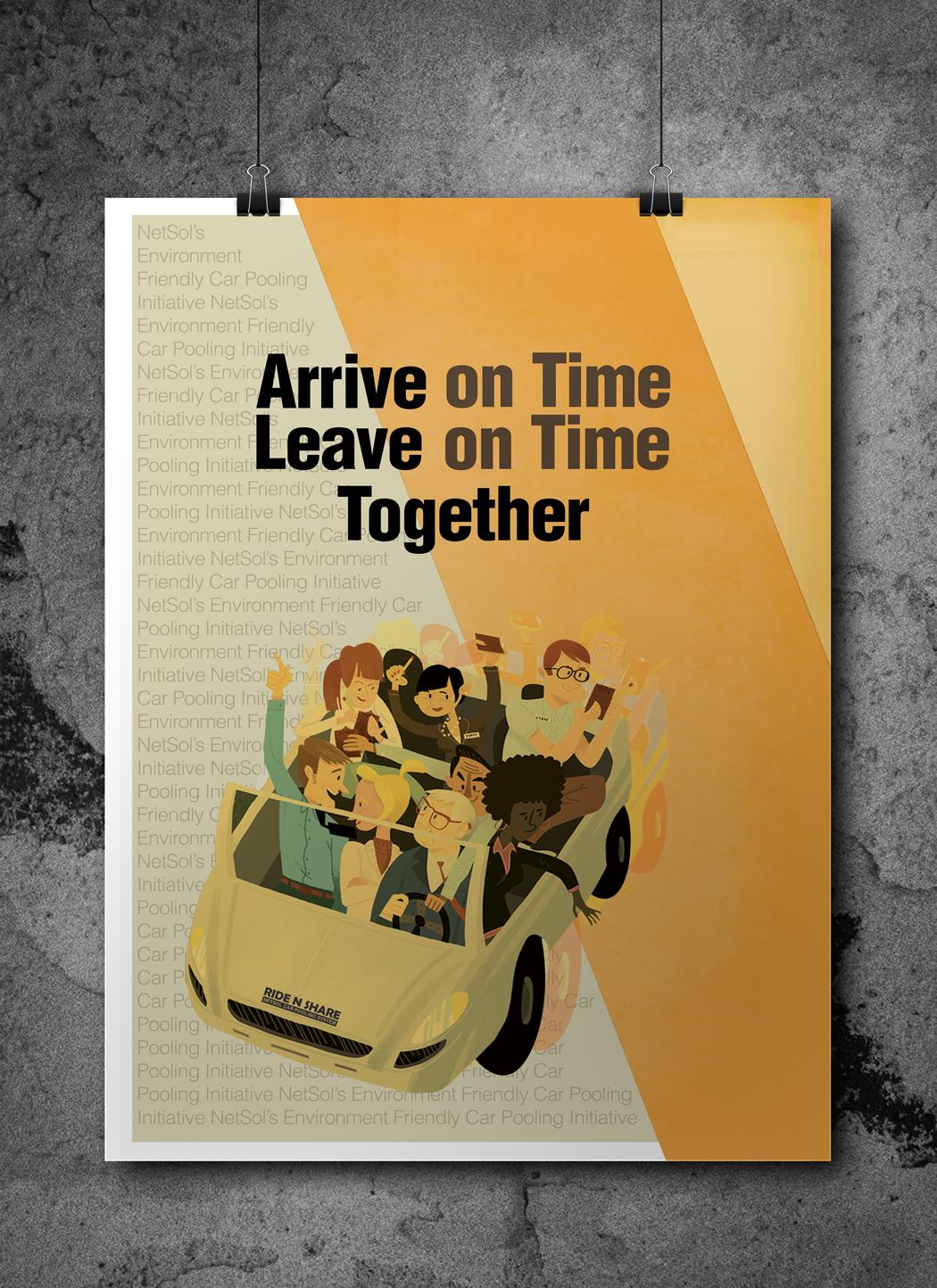 Poster designs for Carpooling app on Behance