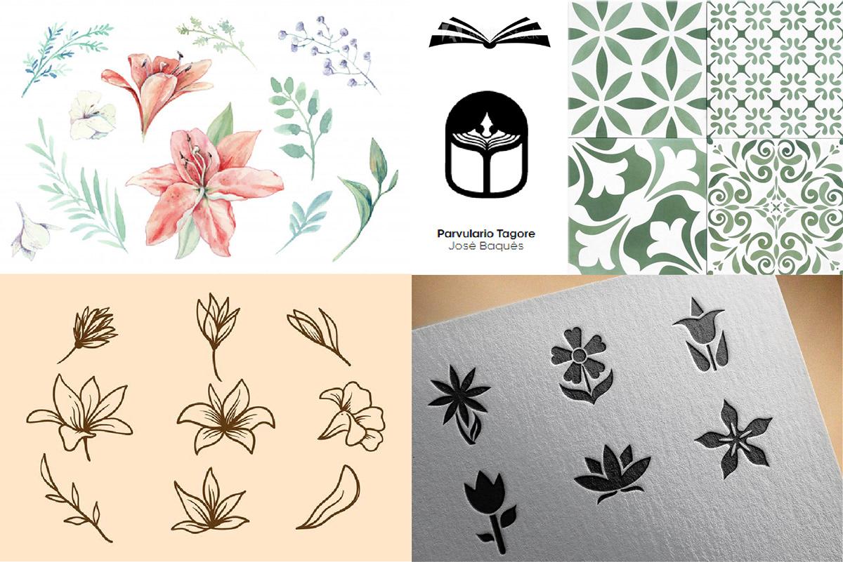 Brand Design Design de Marca flor flower identidade de marca identidade visual logo Logo Design Professor teacher