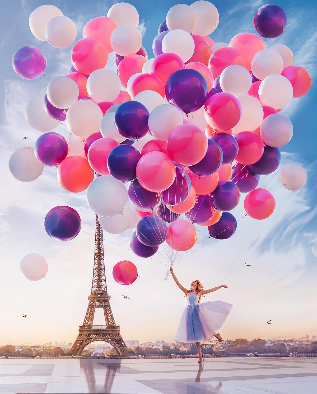 Paris Magic   Photography  balloons DEERS dresses