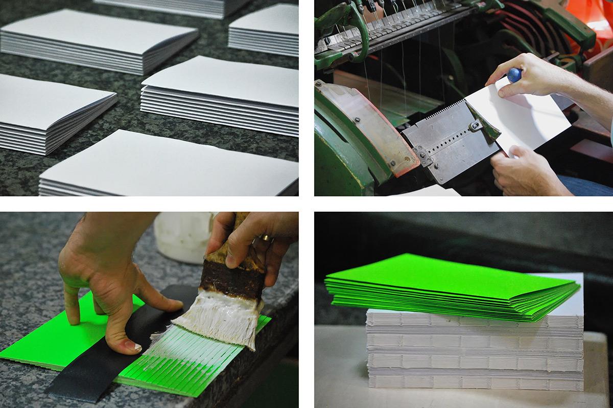 anniversary mubien neon green Bookbinding sketchbook