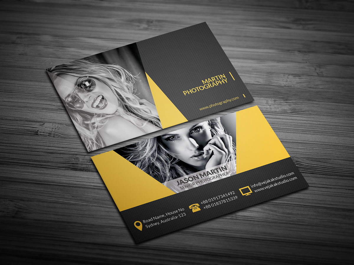 Photography business card on behance photography business card template reheart Image collections