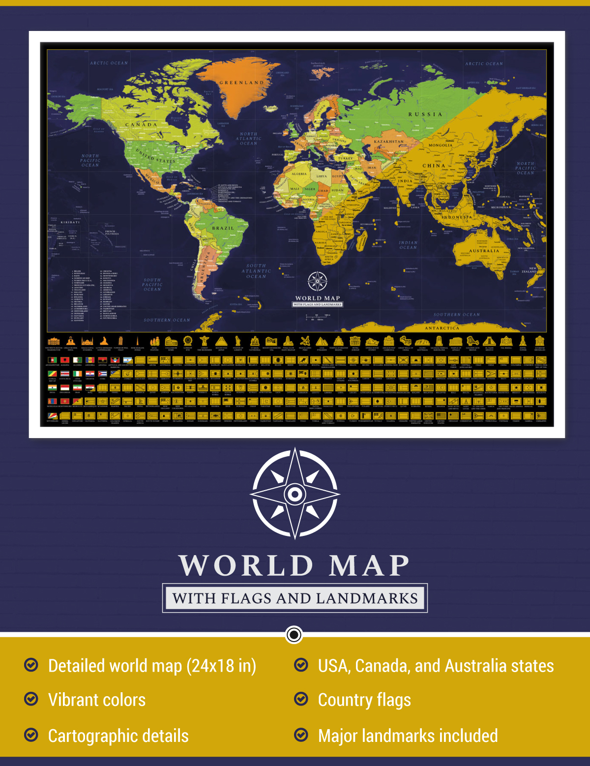 Scratch Off Detailed World Map Poster on Behance on