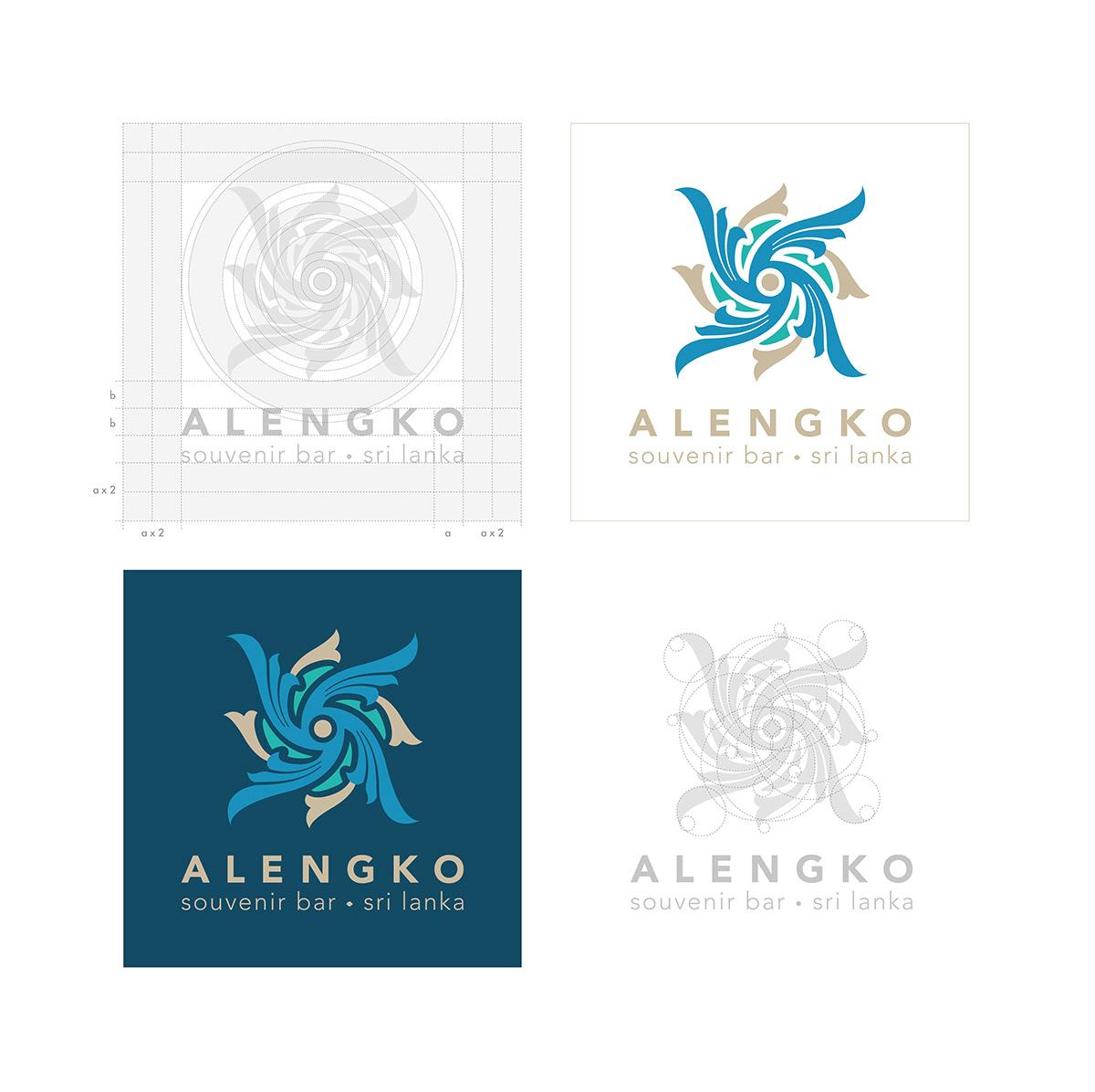 Alengko colombo Sri lanka branding  Graphic Designer Packaging ravana Yaka Mask rakshasa Yaksha