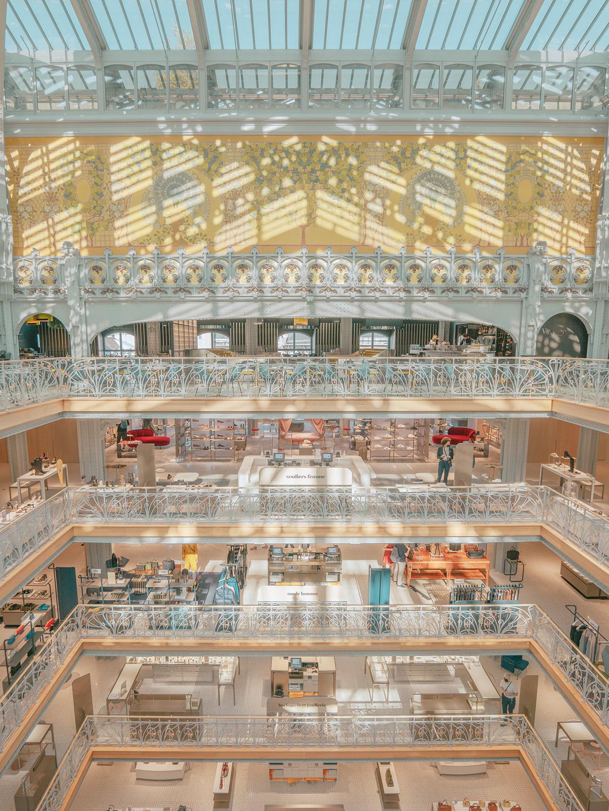 architecture building city france interior design  Paris samaritaine