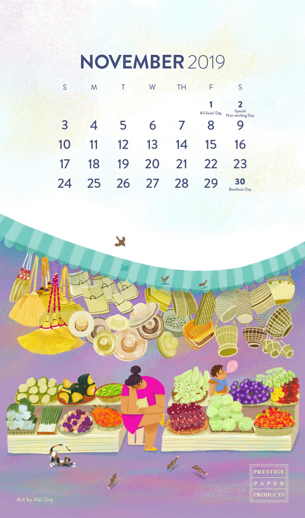 Adobe Portfolio calendar ILLUSTRATION