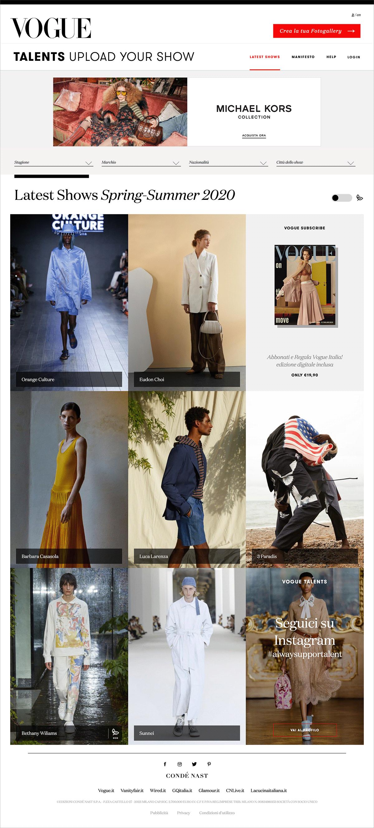 runway talents vogue UGC fashion show