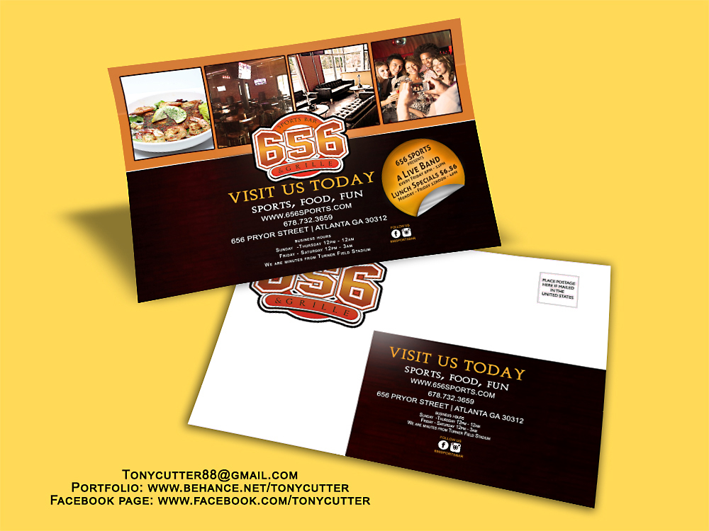 Nightbar Direct Mailer Flyer PSD Download On Behance - Promotional mailer template