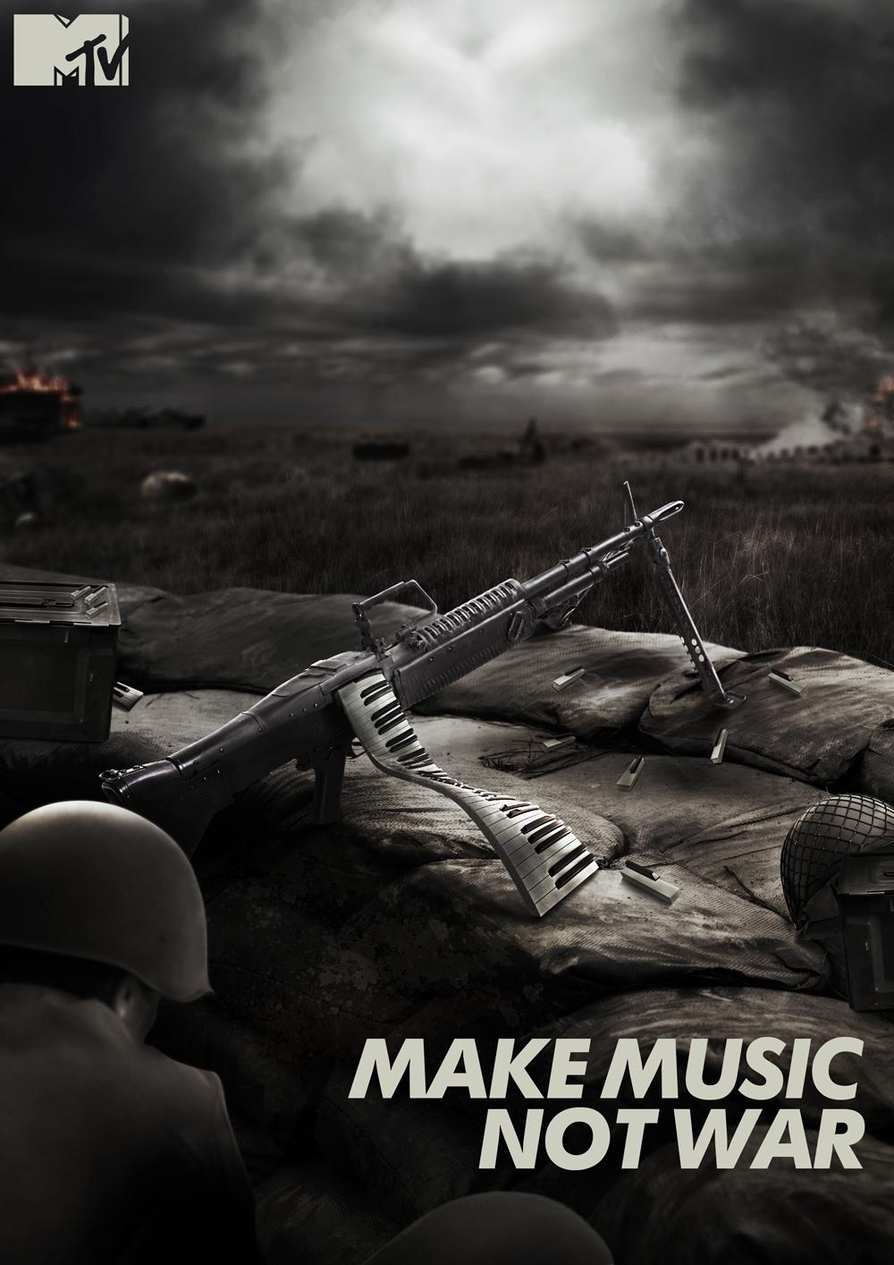 MTV INDIA - MAKE MUSIC NOT WAR on Behance