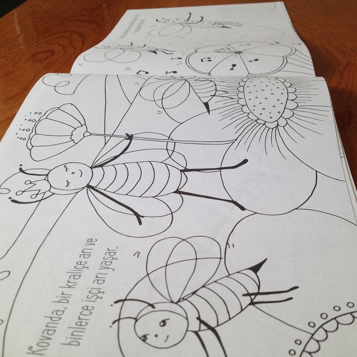 Anavarza Bal Boyama Kitabı Coloring Book On Behance
