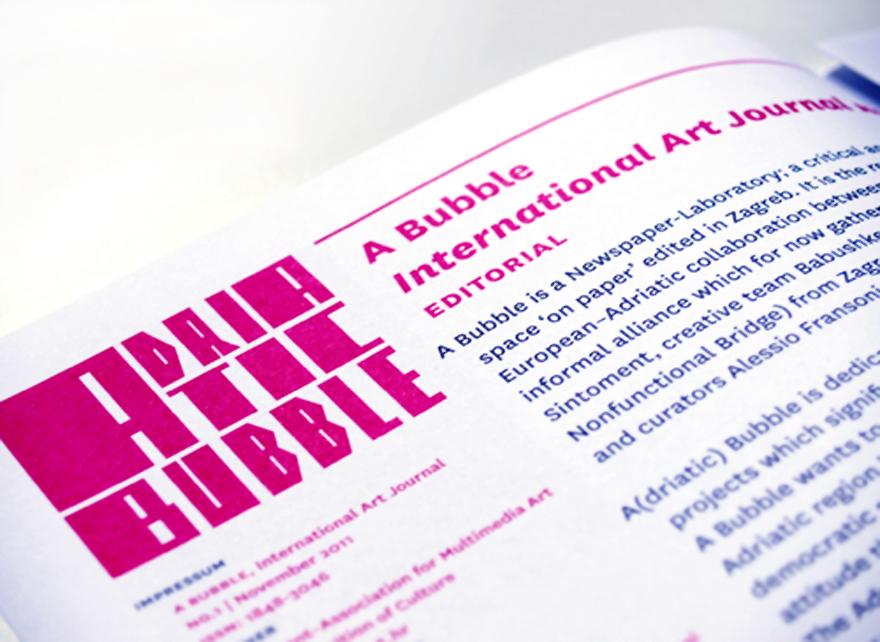 a bubble newspaper art journal Art journal international art journal babushke sintoment ubu organizam tomislav gotovac tom typeface