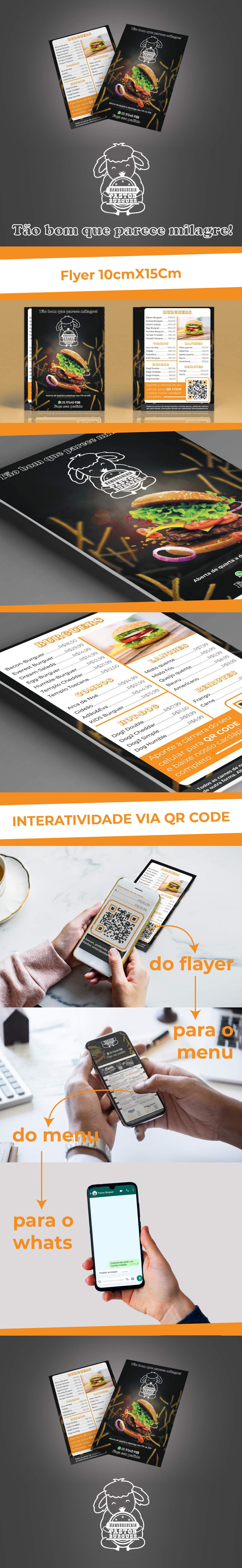 flyer folder identidade visual QR Code