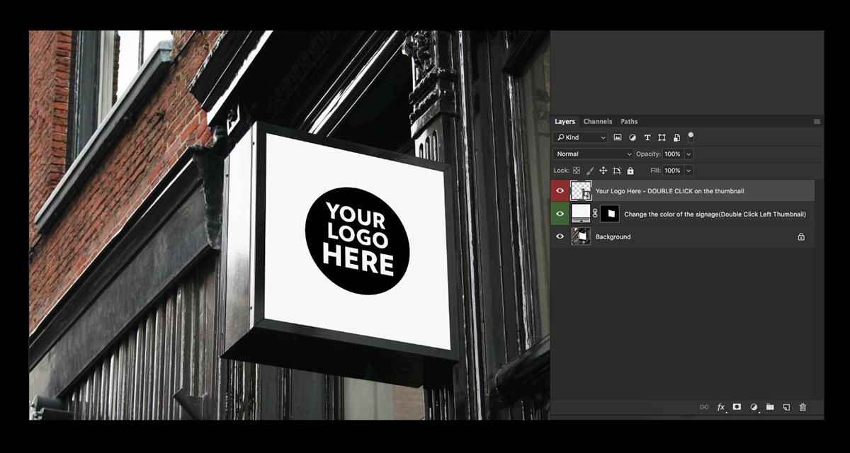 logo Mockup free freebie brand sign letter restaurant cafe Office