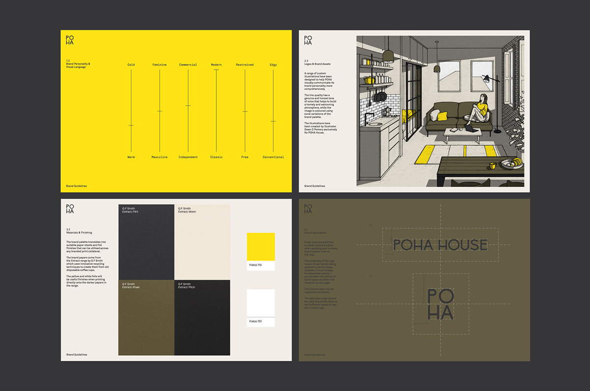 book book design binding foil Stationery business card architecture real estate brand guidelines icons