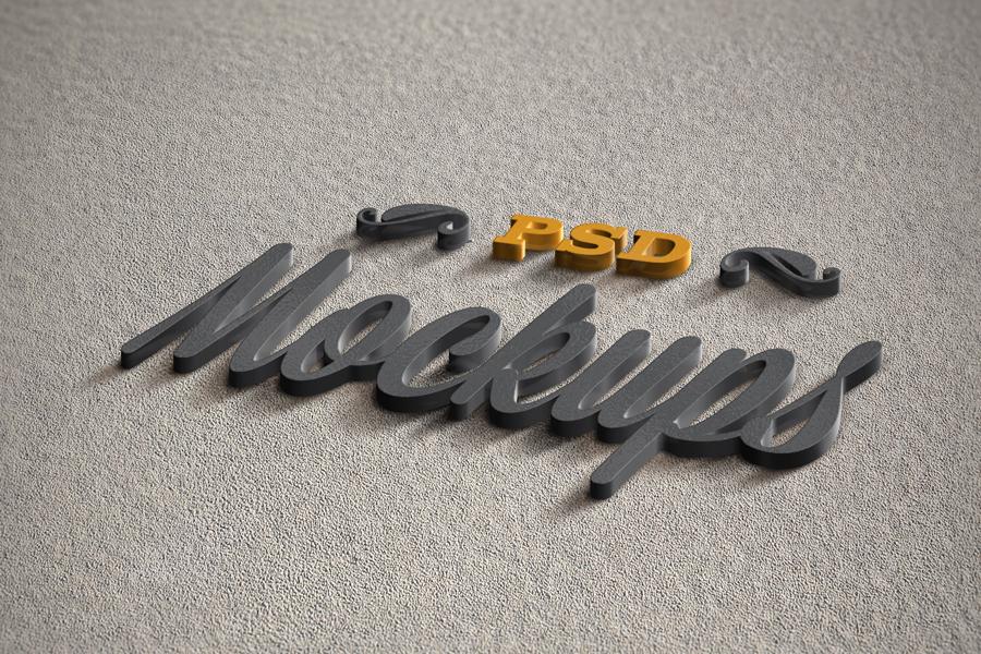 3D Logo Mock-up Vol 1 (Free) on Behance