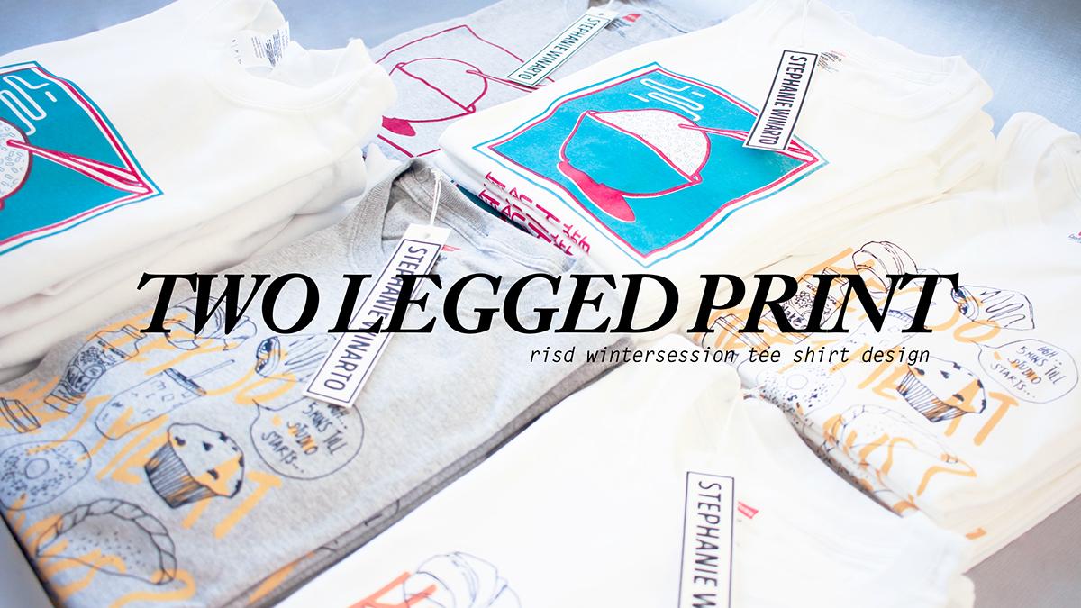 Two legged print t shirt design on risd portfolios for T shirt printing providence ri