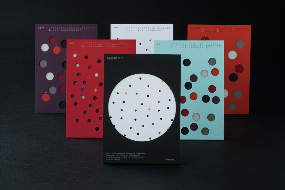 time calendar paper fedrigoni hole print experiment color texture geometic pattern
