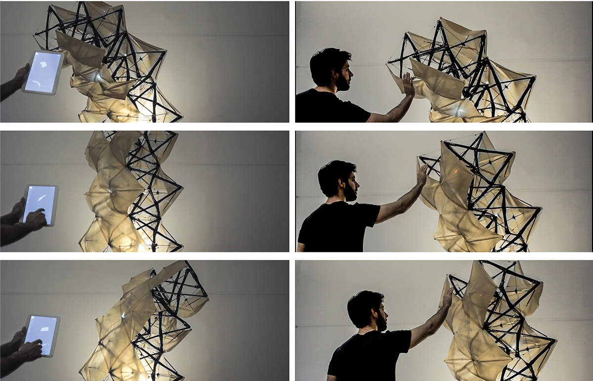 REMEMBRANE | Shape Changing Adaptive Structures on Behance