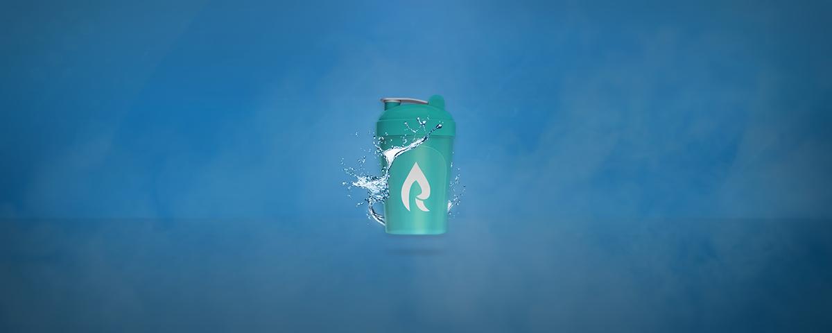 g fuel tropical rain shaker cup advertisement on behance