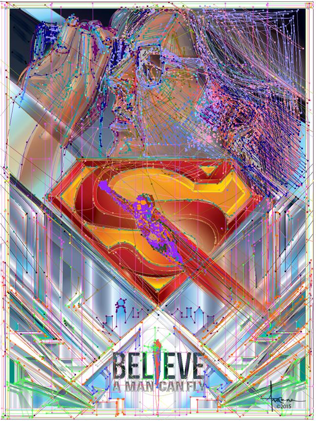 richard_donner superman vector Illustrator movie poster batman christopher_reeve metropolis crystal