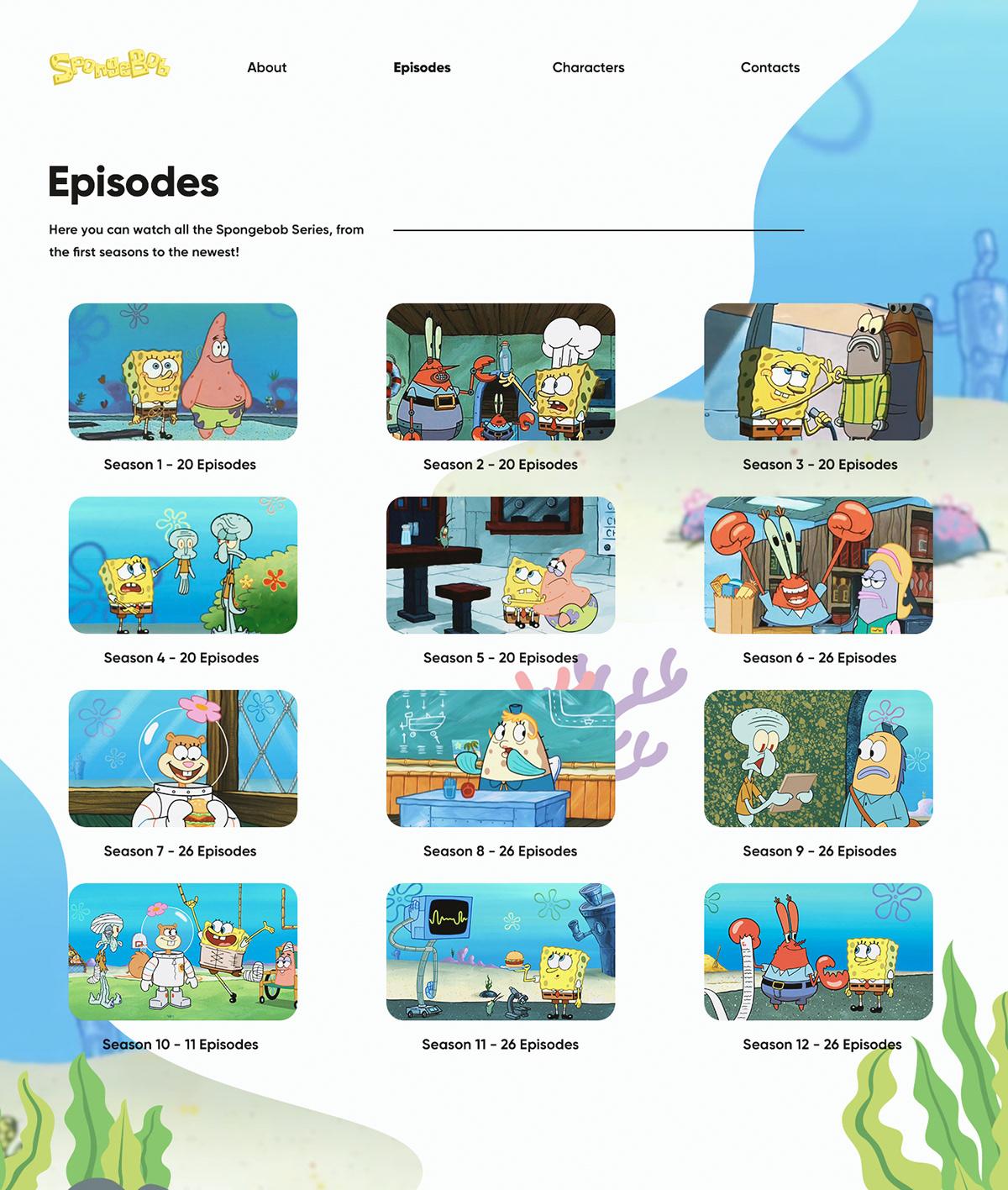 Spongebob - Website on Behance