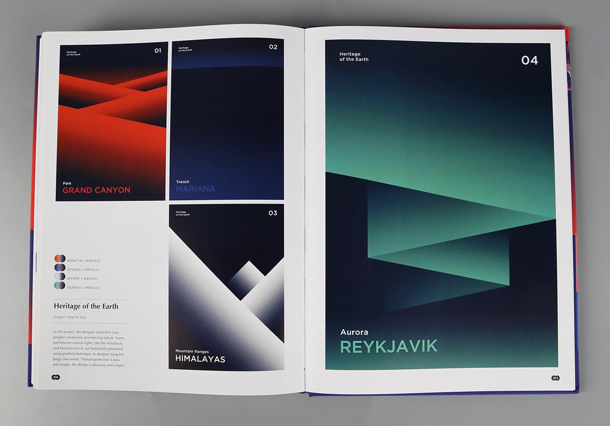 Duotone graphic design  editorial design  colour colour combination