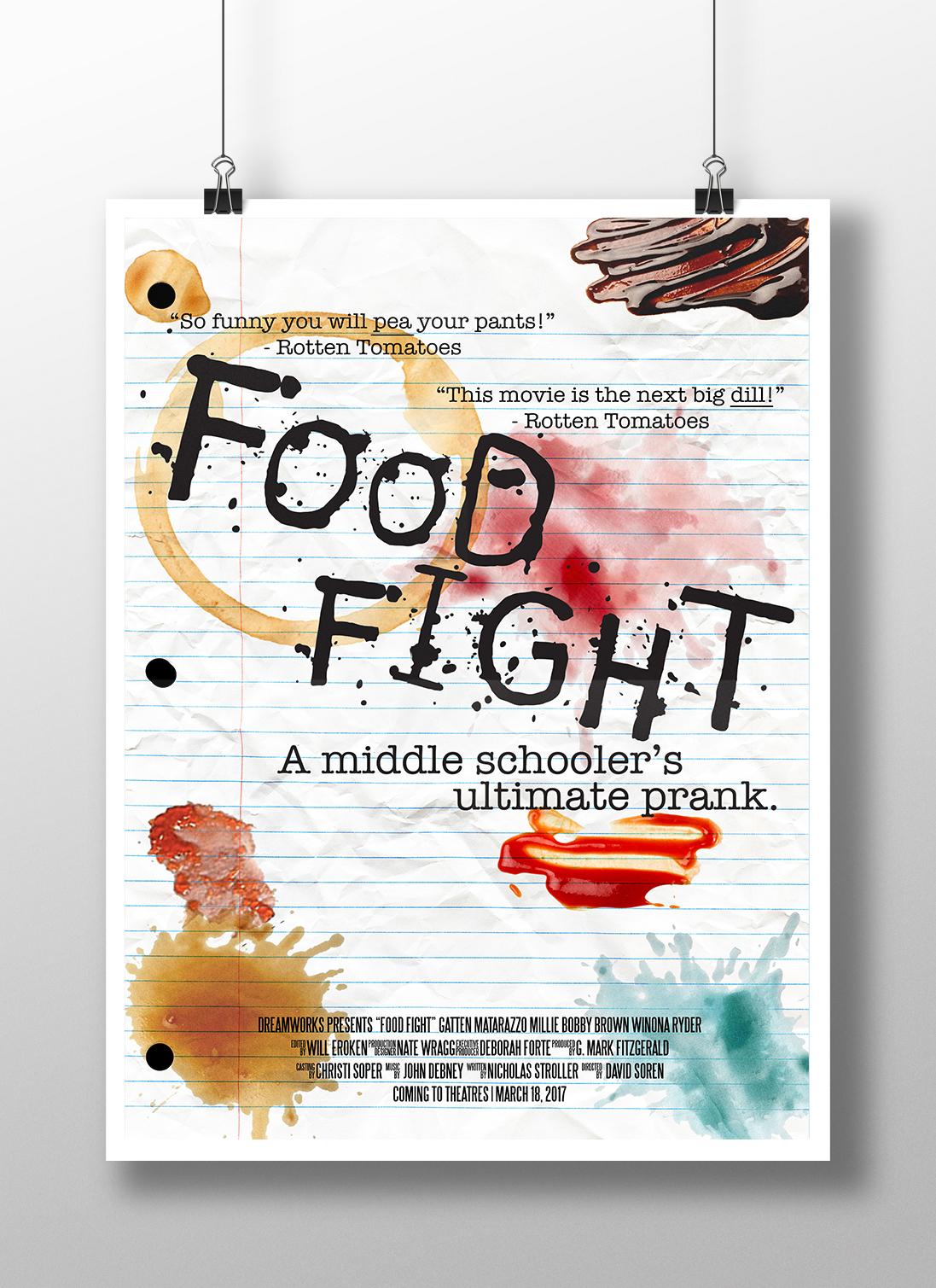 Food Fight Typography Project On Behance