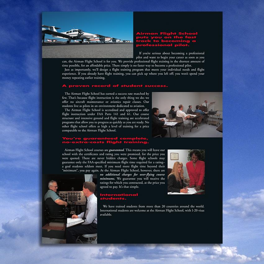 Airman Flight School Pocket Folder On Behance