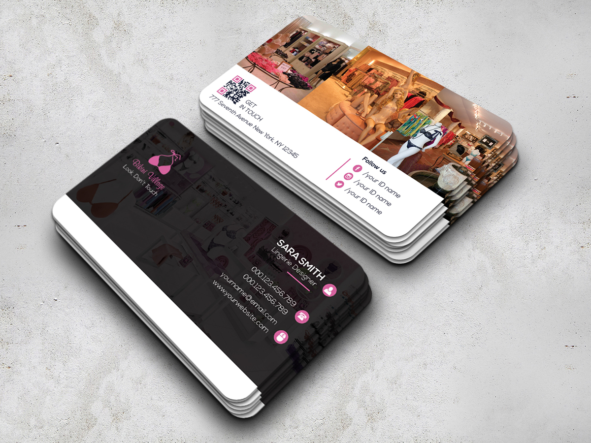 Lingerie store business card on behance download here colourmoves