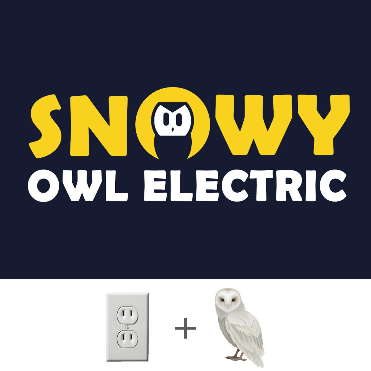 electrical Snowy owl owl electirician Tradesman Owl icon energy