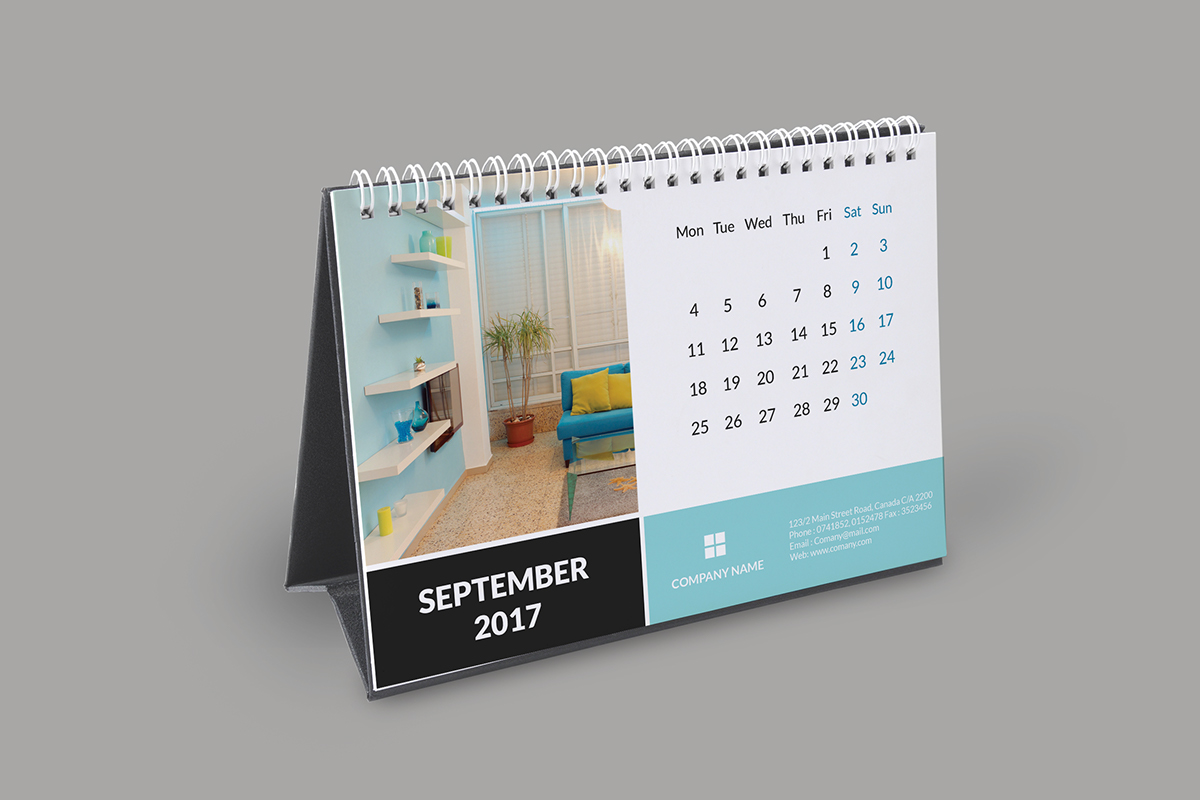 Corporate Calendar 2017 : Corporate desk calendar on wacom gallery