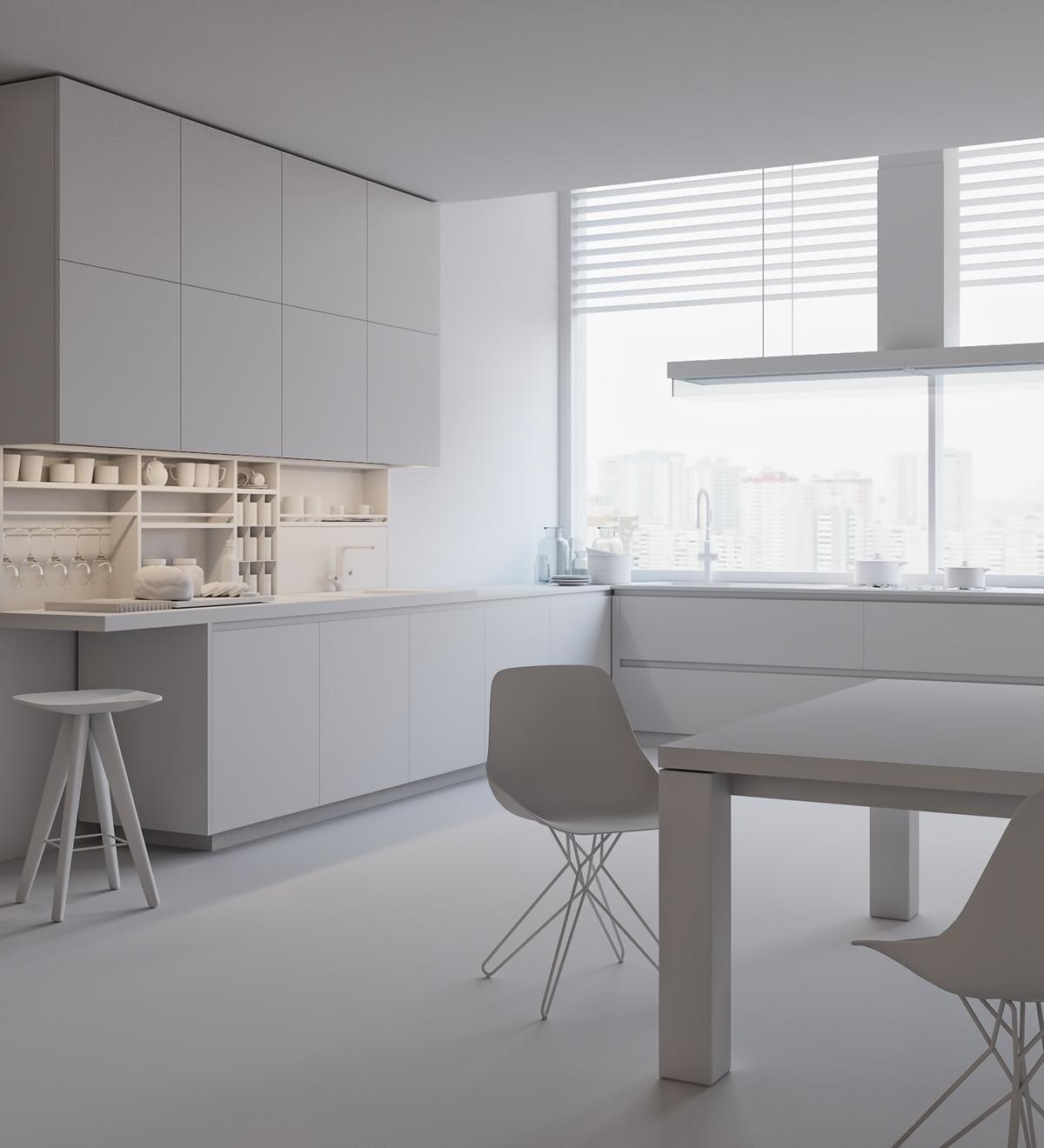 Kitchen. 3D Visualization (Poliform) On Behance
