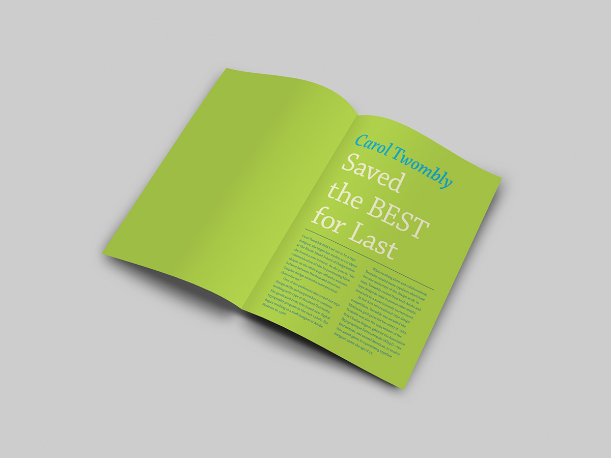 chaparral Typeface Promotion Booklet