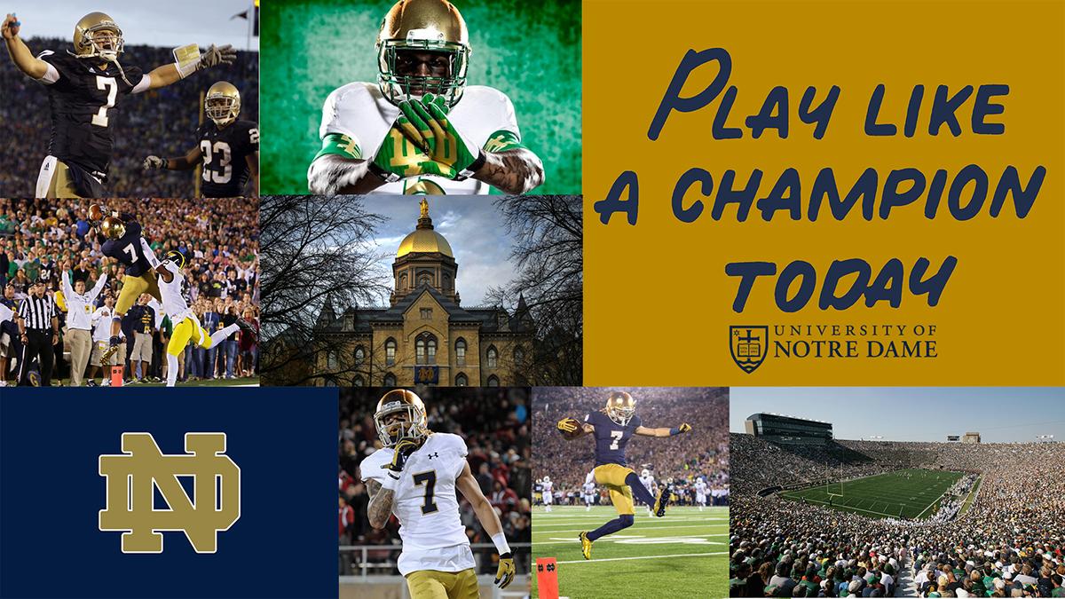 Notre Dame Football Desktop Wallpaper
