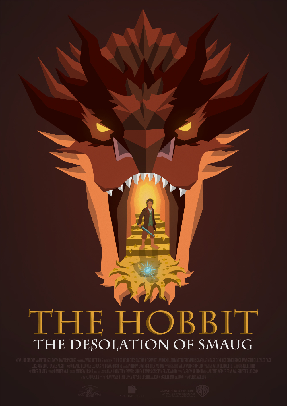 the hobbit - poster on behance