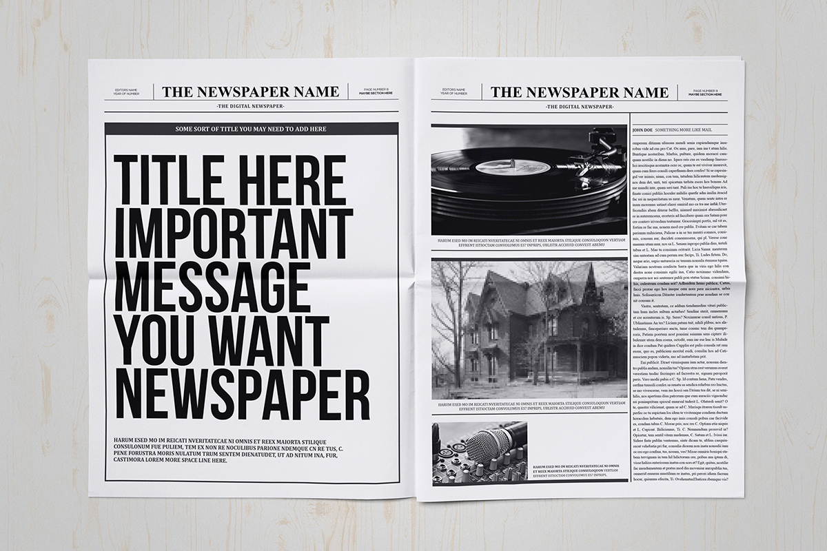 Classy newspaper indesign template on behance for Paper ad design templates