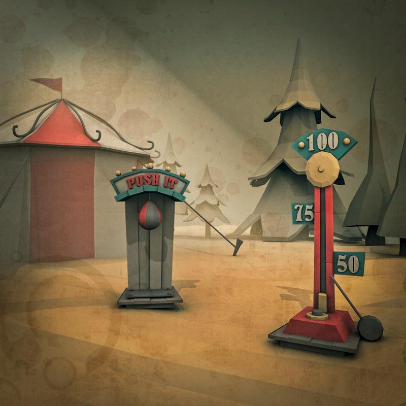 cartoon ilustracion lowpoly Modelado3d Retro