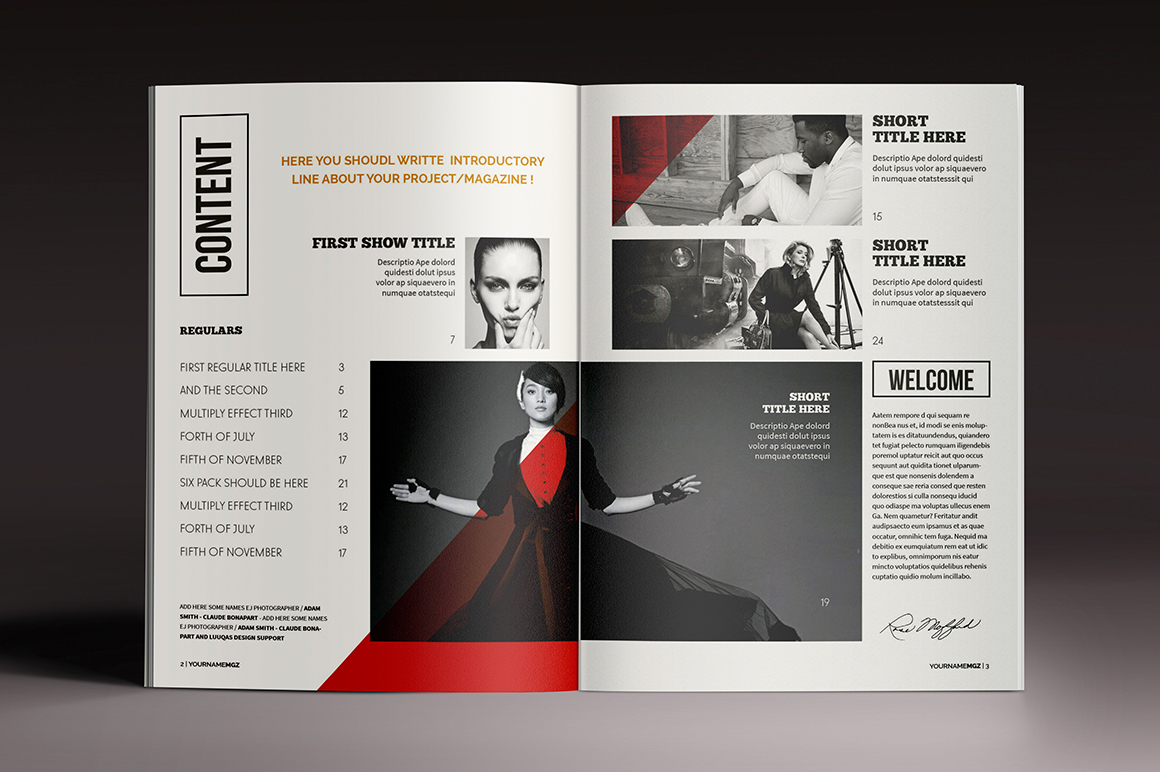 Magazine brochure indesign templates on behance for Adobe indesign magazine templates free download