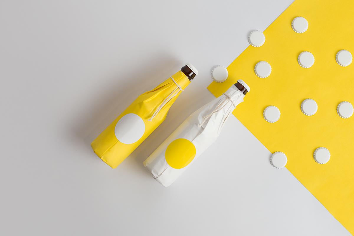 design yellow bottle