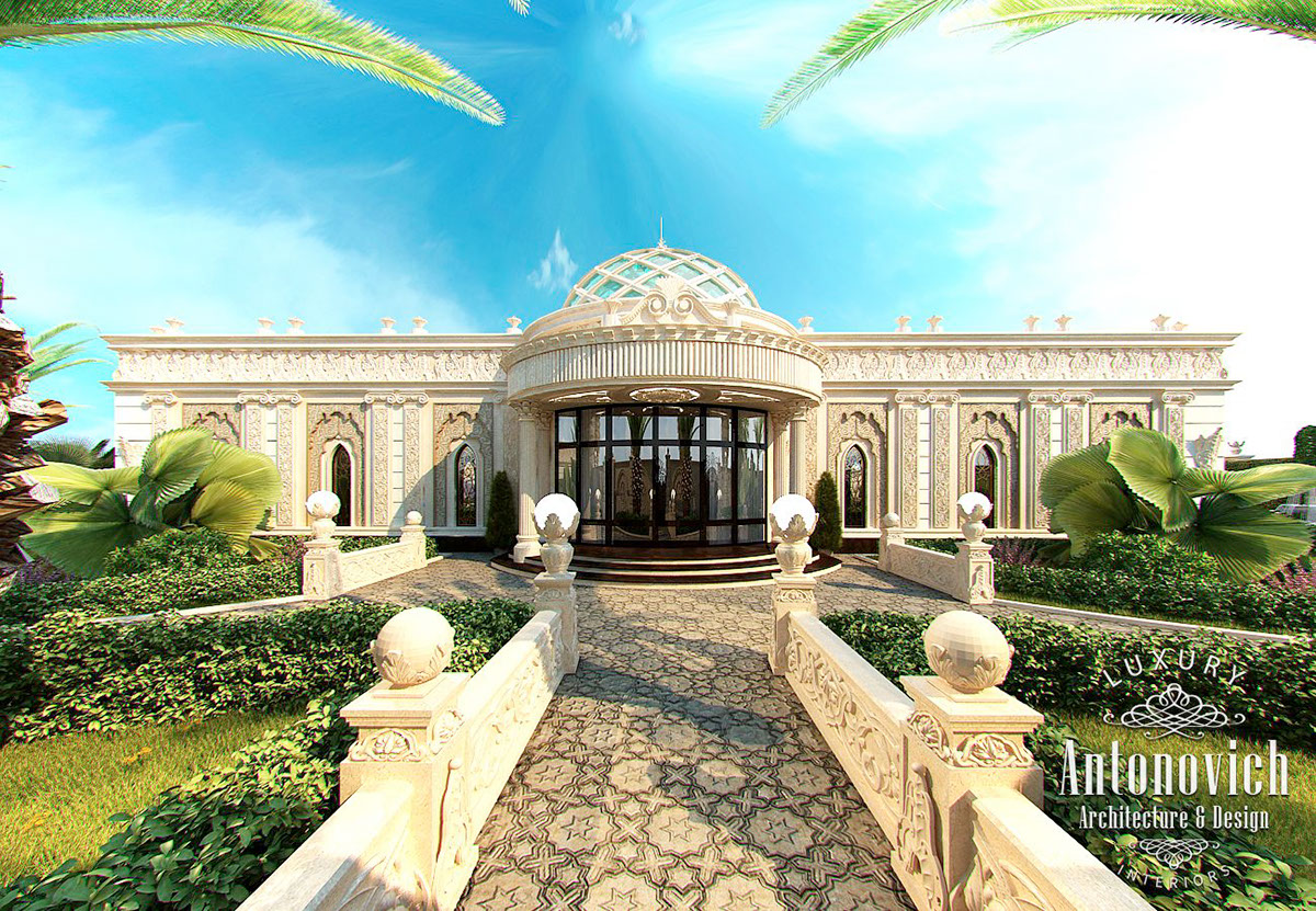 Luxury Villa Exterior In Dubai Reflects A Combination Of Cultural  Traditions Of The East And The Possibilities Of Modern Technology. House Exterior  Design ...