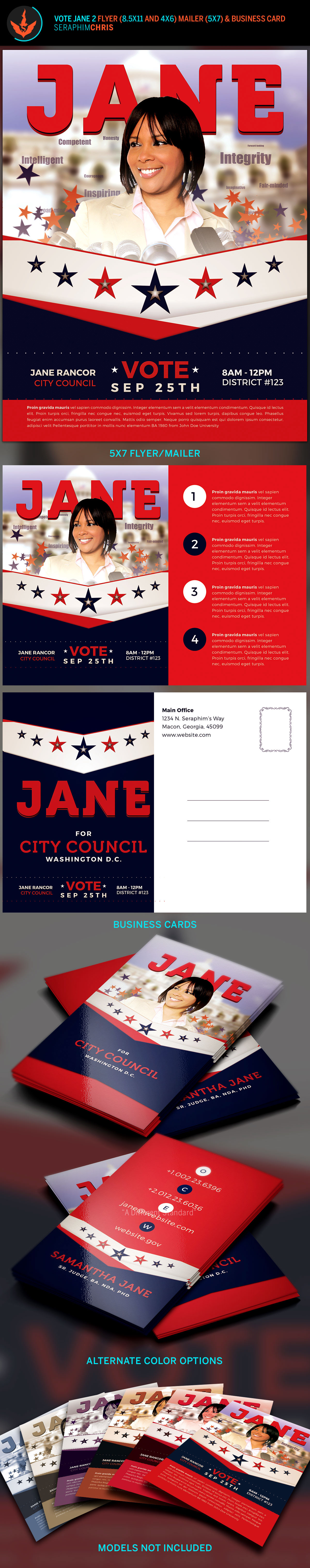 Vote Jane 2 - Political Flyer Template Kit on Behance