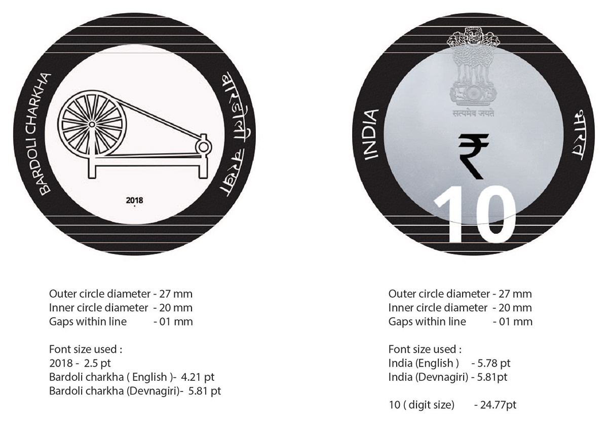 Rs  10 COIN DESIGN on Behance
