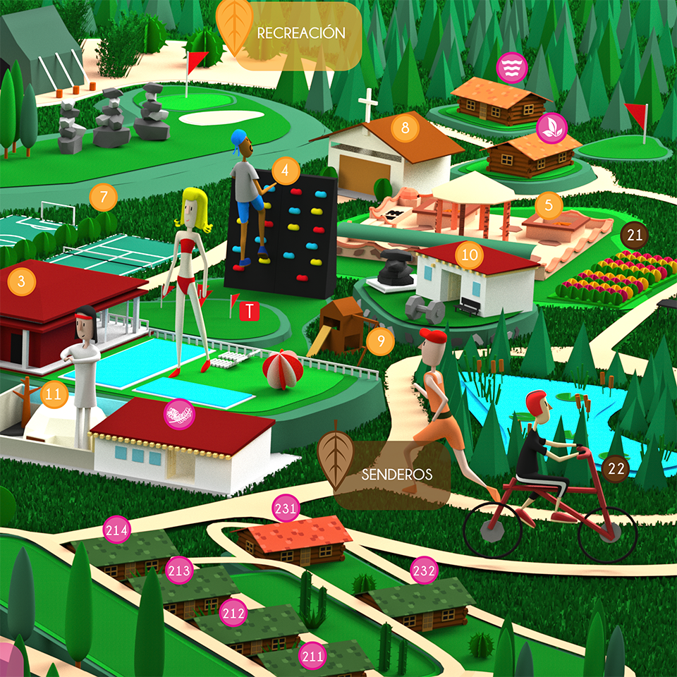 mapa3d diseño gráfico villaseca cabañas mapa